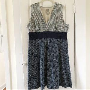Patagonia Organic Cotton Faux wrap dress XL Blue